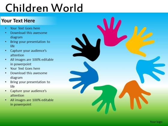Diverse Colors Kids PowerPoint Ppt Templates