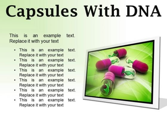 Dna Capsules Medical PowerPoint Presentation Slides F