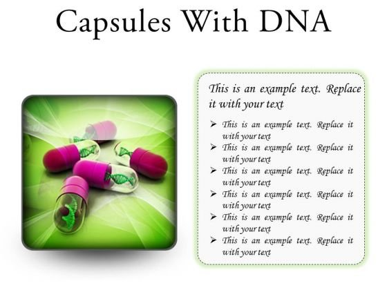 Dna Capsules Medical PowerPoint Presentation Slides S