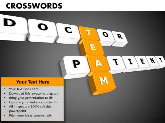 Doctor Patient Team Crosswords PowerPoint Templates