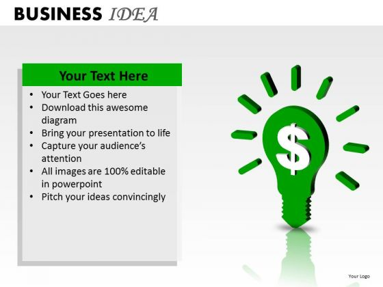 Dollar Business Idea PowerPoint Slides And Ppt Diagram Templates