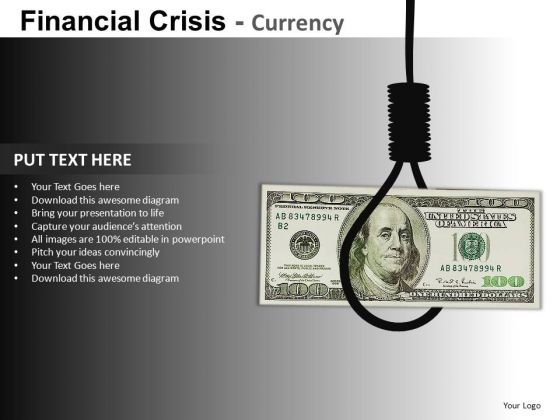 Dollar Death PowerPoint Templates
