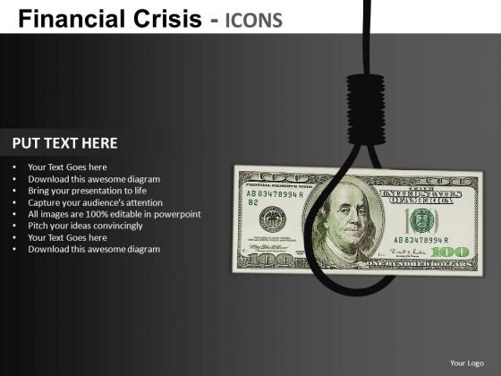 Dollar In Trouble PowerPoint Ppt Templates