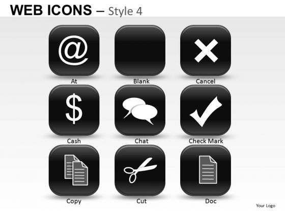 Dollar Web Icons PowerPoint Slides And Ppt Diagram Templates