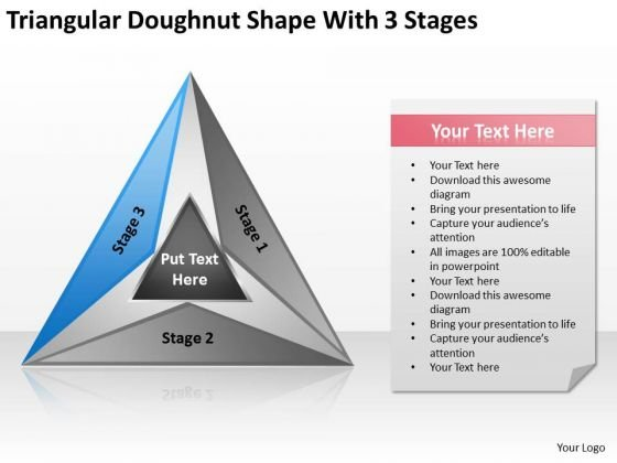Doughnut Shape With 3 Stages Ppt Business Development Plan Template PowerPoint Templates