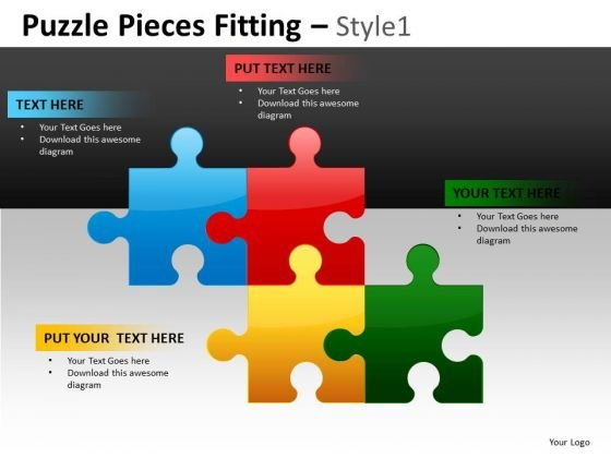 Dowload Puzzle Diagram Charts For PowerPoint Slides And Hr Ppt