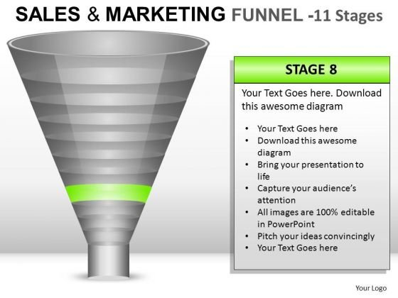 Download 11 Stages Editable Sales Funnel PowerPoint Slides And Ppt Diagram Templates