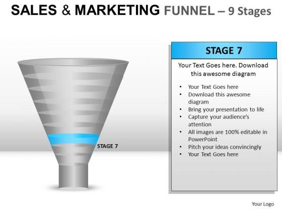 Download 9 Stages Editable Sales Funnel PowerPoint Slides And Ppt Diagram Templates
