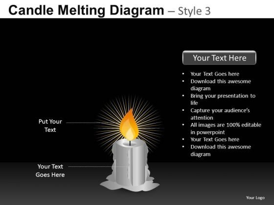 Download Burning Candle PowerPoint Templates