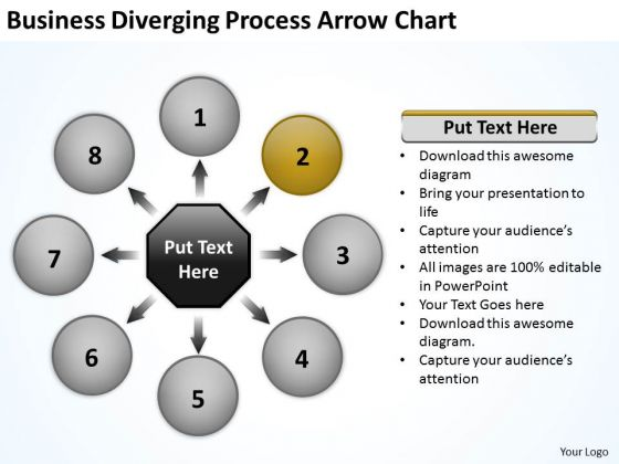 Download Diverging Process Arrow Chart Ppt Relative Circular Flow PowerPoint Slides