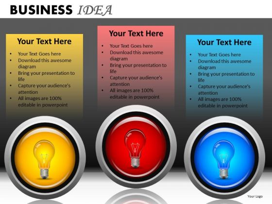 Download Editable Light Bulb Graphic PowerPoint Templates