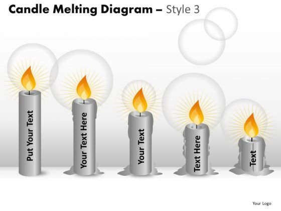 Download Editable Melting Candle PowerPoint Templates And Candle Ppt Slides