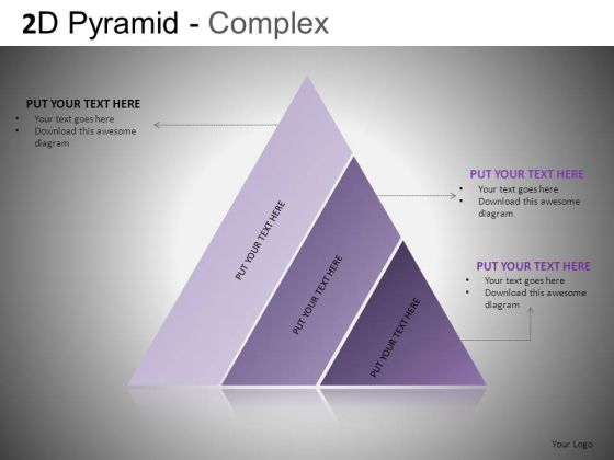 Download Editable PowerPoint Pyramid Slides With Diagonal Layers