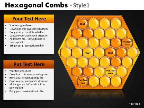 Download Hexagonal Combs PowerPoint Templates Hexagon Ppt Slides