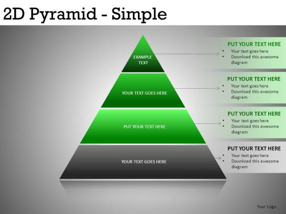 Download PowerPoint Slides Pyramids 4 Layers