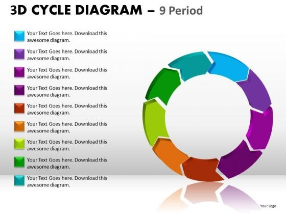 Download Ppt Templates 9 Stages Editable Cycle Diagram PowerPoint Slides