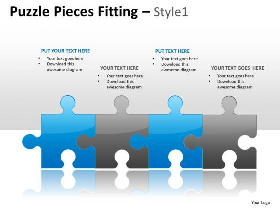Download Puzzle Pieces Fitting 1 PowerPoint Slides And Ppt Diagram Templates