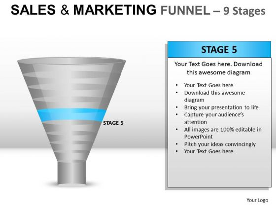 Download Sales And Marketing Funnel 9 PowerPoint Slides And Ppt Diagram Templates