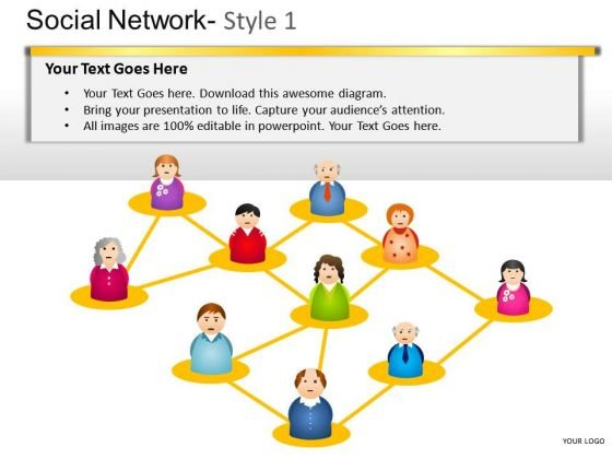 Download Social Network 1 PowerPoint Slides And Ppt Diagram Templates