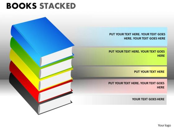 Download Stacked Books PowerPoint Ppt Slides