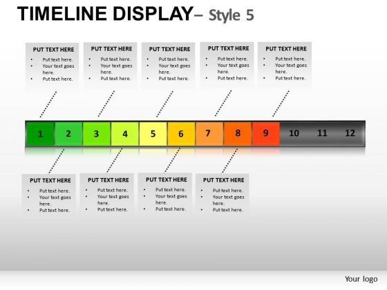 Download Years Timeline Display 5 PowerPoint Slides And Ppt Diagram Templates