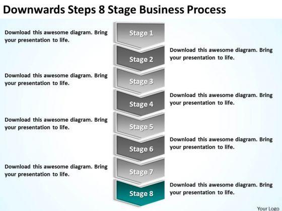 Downwards Steps 8 Stage Business Process Ppt Plan Model PowerPoint Slides