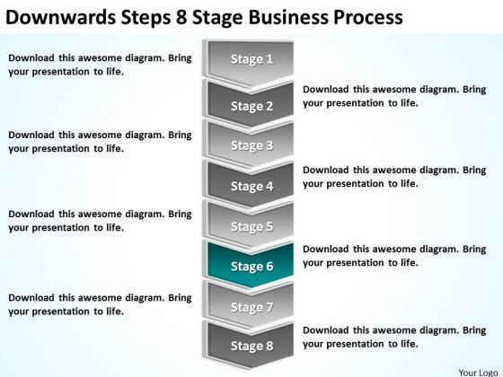 Downwards Steps 8 Stage Business Process Ppt Profit Plan PowerPoint Templates