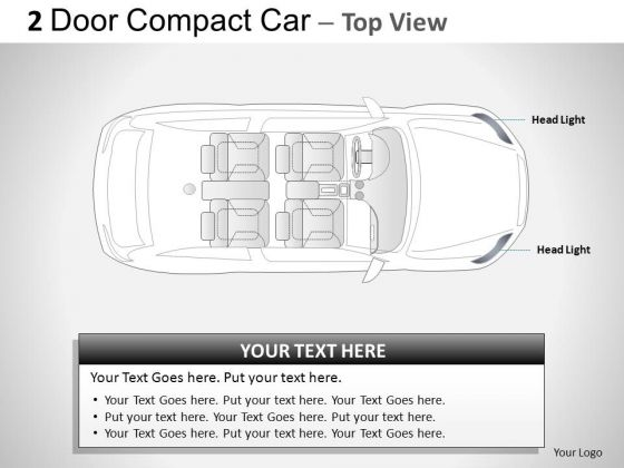 Dramatic 2 Door Gray Car Top PowerPoint Slides And Ppt Diagram Templates