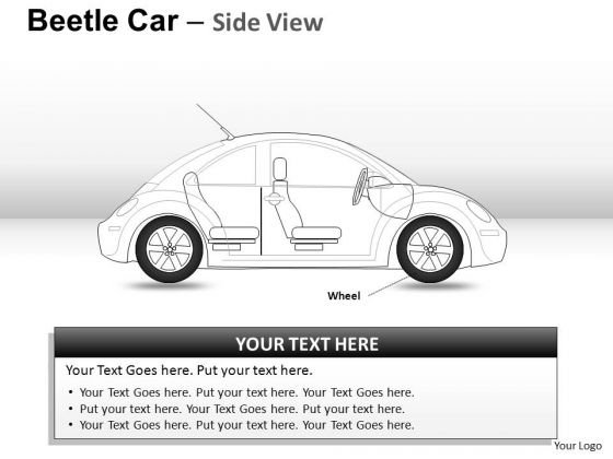 Driving Red Beetle Car PowerPoint Slides And Ppt Diagram Templates