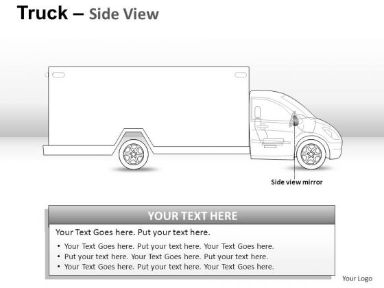 Driving Yellow Truck PowerPoint Slides And Ppt Diagram Templates