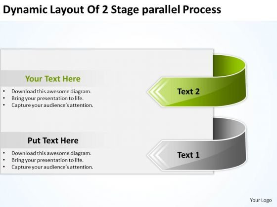 Dynamic Layout Of 2 Stage Parallel Process Ppt Strategic Business Plans PowerPoint Templates