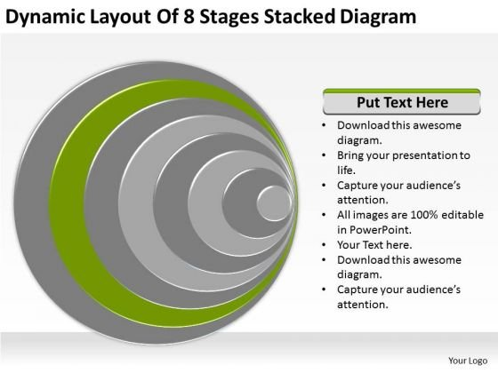 Dynamic Layout Of 8 Stages Stacked Diagram Ppt Build Business Plan PowerPoint Templates