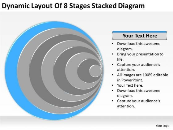 Dynamic Layout Of 8 Stages Stacked Diagram Ppt Business Plan PowerPoint Templates