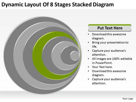 Dynamic Layout Of 8 Stages Stacked Diagram Ppt For Business Plan PowerPoint Templates