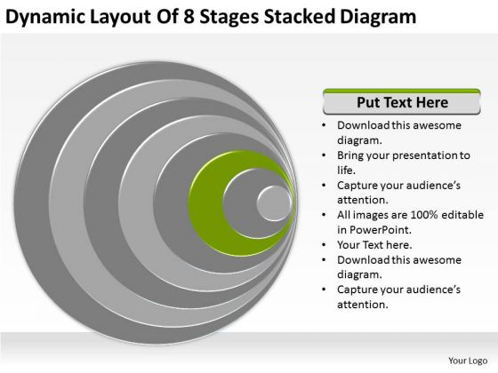 Dynamic Layout Of 8 Stages Stacked Diagram Ppt Outline Business Plan PowerPoint Slides