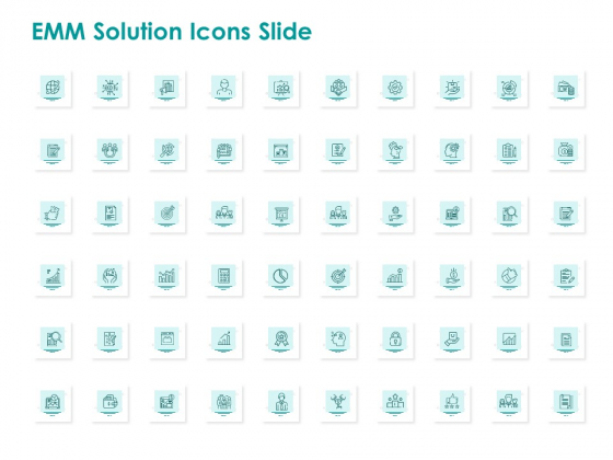 EMM Solution Icons Slide Ppt Professional Objects PDF