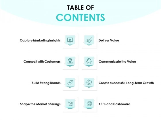 EMM Solution Table Of Contents Ppt Icon Smartart