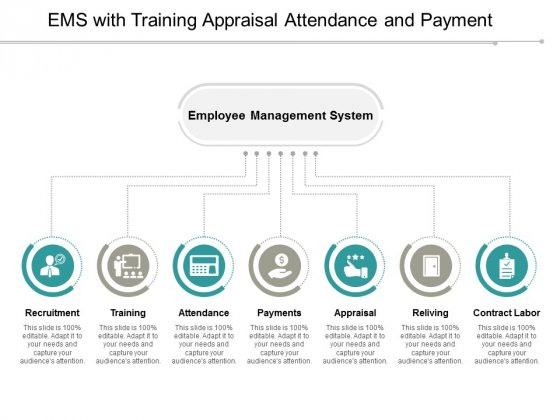 EMS With Training Appraisal Attendance And Payment Ppt PowerPoint Presentation File Brochure