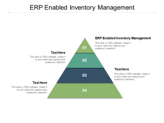 ERP Enabled Inventory Management Ppt PowerPoint Presentation Show Master Slide Cpb
