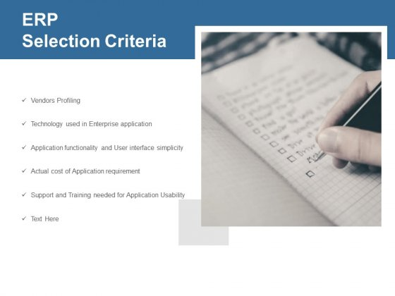 ERP Selection Criteria Ppt PowerPoint Presentation Professional Sample