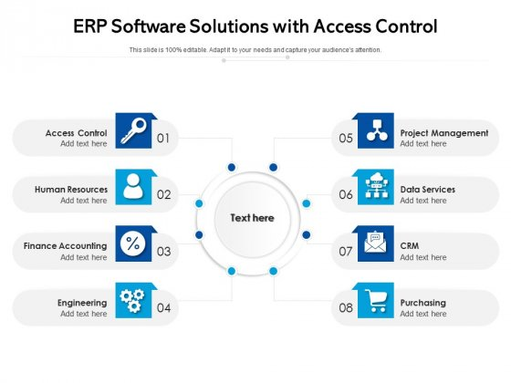 ERP Software Solutions With Access Control Ppt PowerPoint Presentation Portfolio Pictures PDF