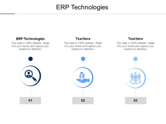 ERP Technologies Ppt PowerPoint Presentation Show Tips Cpb