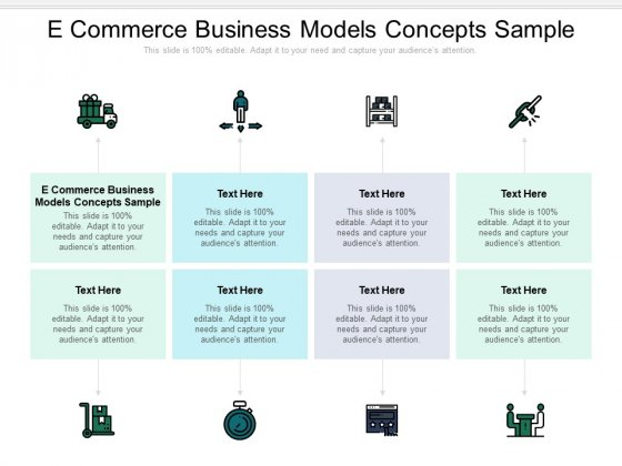 E Commerce Business Models Concepts Sample Ppt PowerPoint Presentation Infographics Example File Cpb Pdf