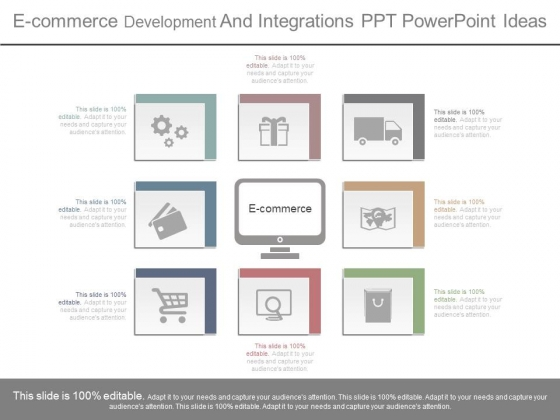 E Commerce Development And Integrations Ppt Powerpoint Ideas
