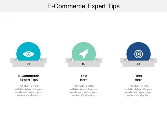 E Commerce Expert Tips Ppt PowerPoint Presentation Slides Clipart Images Cpb