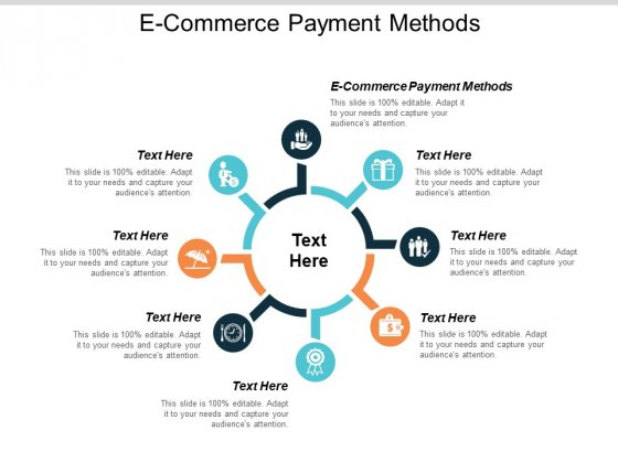 E Commerce Payment Methods Ppt PowerPoint Presentation Inspiration Example Topics Cpb