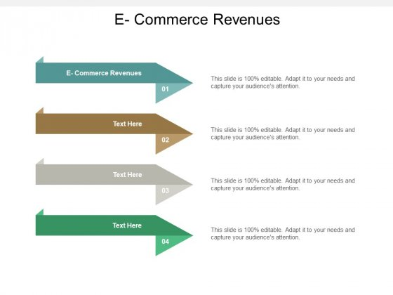 E Commerce Revenues Ppt PowerPoint Presentation Portfolio Rules Cpb