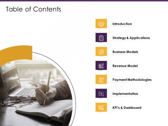 E Commerce Table Of Contents Ppt PowerPoint Presentation Diagram Templates PDF