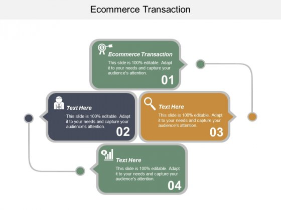 E Commerce Transaction Ppt PowerPoint Presentation Slides Show Cpb