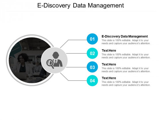 E Discovery Data Management Ppt PowerPoint Presentation Infographic Template Graphics Cpb